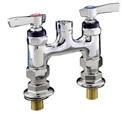 Encore (CHG) KL57-Y001 - Encore® Faucet Body, Elevated Bridge Deck Mount, 4-inch (102mm) OC inlets, 1/4-turn full volume ceramic valves, lever handles