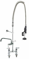 Encore (CHG) KL66-1000-AF4 - Encore®  Deck Mount, 6-inch OC, Pre-Rinse Assembly with 12-inch Add-On Faucet, lever handles, 1/4-turn full volume compression valves