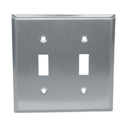 Component Hardware - R70-0722-Q - S/S DOUBLE TOGGLE PLATE SANIGUARD COATED