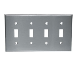 Component Hardware - R70-0724-Q - S/S FOUR TOGGLE PLATE SANIGUARD COATED