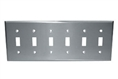Component Hardware - R70-0726-Q - S/S SIX TOGGLE PLATE SANIGUARD COATED