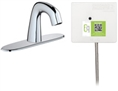 Chicago Faucets EQ-A13A-41ABCP Lav Faucet Eq Ir Rnd 8P Aclp Ss Nmix