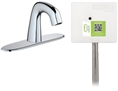 Chicago Faucets EQ-A13A-42ABCP Lav Faucet Eq Ir Rnd 8P Aclp Ds Int Mech