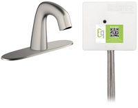 Chicago Faucets EQ-A13A-43ABCP Lav Faucet Eq Ir Rnd 8P Aclp Ds Int 1070