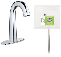Chicago Faucets EQ-C12A-31ABCP Lav Faucet Eq Ir Gn 4P Acpi Ss Nmix