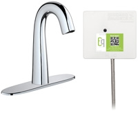 Chicago Faucets EQ-C13A-51ABCP Lav Faucet Eq Ir Gn 8P Achw Ss Nmix