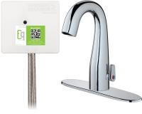 Chicago Faucets EQ-C23A-45ABCP Lav Faucet Eq Ir Gn 8P Aclp Ds Ext 1070