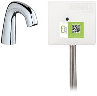 Chicago Faucets EQ-D11A-13ABCP-MP Lav Faucet Eq Ir Rnd Sh Batt Ds Int 1070