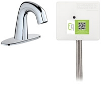 Chicago Faucets EQ-D12A-43ABCP Lav Faucet Eq Ir Rnd 4P Aclp Ds Int 1070