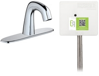 Chicago Faucets EQ-D13A-42ABCP Lav Faucet Eq Ir Rnd 8P Aclp Ds Int Mech
