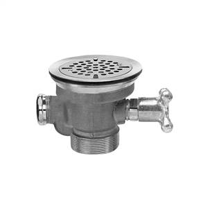 Fisher 22446 - DrainKing Waste Valve with Flat Strainer, Overdlow Body and Vandal Resistant Knob