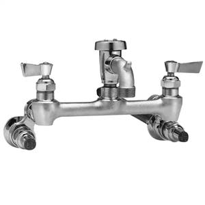 Fisher - 2453 - 8-inch Adjustable Wall Mounted Faucet S SS SHORT SPT