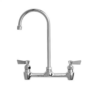 Fisher - 3255 - 8-inch Adjustable Wall Mounted Faucet - 12-inch Swivel Gooseneck Spout