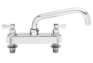 Fisher - 5312 - 8-inch Deck Moutned Faucet - 3/4-inch Inlets - 10-inch Swivel Spout