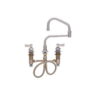 Fisher - 59218 - Widespread Faucet, 13-inch Double Jointed Swing Spout and Lever Handles