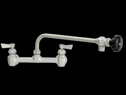 "Fisher - 65528 - 8"" Wall Body with Concentrics & EZ Install Adapters, 12-inch Control Spout and Wrist Handles"