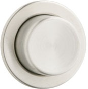Geberit - 115.114.FW.1 - Round Single Flush Button Actuator Plate, Molded Plastic - Brushed Stainless