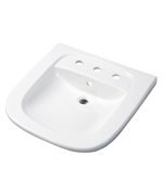 "Gerber 12-474 North Point ADA Wall Hung Lavatory 4"" Centers White"
