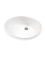 Gerber - UNDERMNT LAVATORY FAUCET 19.25-inch X15.75-inch OVAL BONE