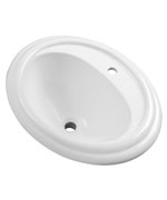 Gerber - S-RIM LAVATORY FAUCET 23.5-inch X19.25-inch OVAL 1-HOLE WHT