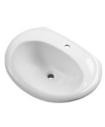 Gerber - S-RIM LAVATORY FAUCET 23.5-inch X19-inch OVAL 1-HOLE WHT
