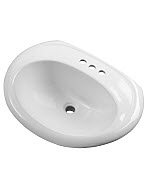 Gerber - S-RIM LAVATORY FAUCET 23.5-inch X19-inch OVAL 4-inch C WHT