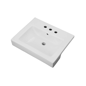 Gerber 12825 - North Point Semi-recessed lav 4-inch  hole, white