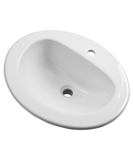 Gerber - MAXWELL S-RIM LAVATORY FAUCET 20-inch X17-inch OVAL 1-HOLE WHT HEAVYWEIGHT CTN