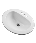 Gerber - MAXWELL S-RIM LAVATORY FAUCET 20-inch X17-inch OVAL 4-inch C WHT HEAVYWEIGHT CTN