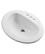 Gerber - MAXWELL S-RIM LAVATORY FAUCET 20-inch X17-inch OVAL 8-inch C BONE TRAPEZOID CTN