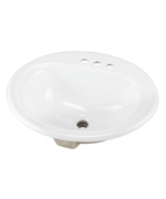 Gerber - S-RIM LAVATORY FAUCET 21.5-inch X18.25-inch OVAL 4-inch C WHT