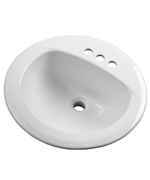 Gerber - MAXWELL S-RIM LAVATORY FAUCET 19-inch ROUND 8-inch C BISC TRAPEZOID CTN