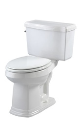 Gerber 20-003 - Allerton™ Suite 1.6 gpf (6 Lpf) Round Front Two Piece Toilet, 14-inch Rough-In