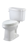 Gerber 20-009 - Allerton™ Suite 1.6 gpf (6 Lpf) Elongated, ErgoHeight™ 2 piece Toilet, 14 inch Rough-In