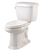 Gerber 20-010 - Picturesque™ Suite 1.6 gpf (6 Lpf) Elongated, ErgoHeight™ 2 Piece Toilet, 12 inch Rough-In