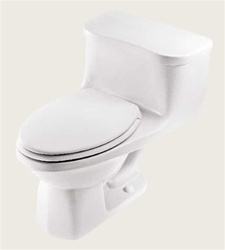 Gerber 21-012 Maurice One-Piece Elongated Pressure Assist Toilet (Ultra Flush) - 12-inch Rough-In