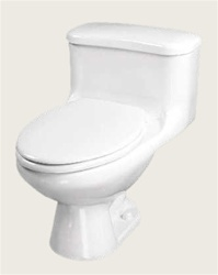 Gerber 20-015 Aqua Saver 1.6 gpf One Piece (Gravity Fed- Toilet) - 12-inch Rough-In
