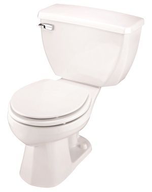Gerber 21-300 Ultra-Flush Pressure Assist Round Front Two-Piece Toilet - 10-inch Rough-In