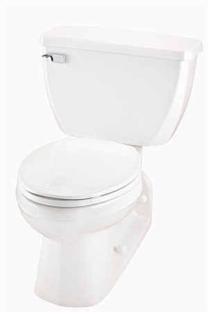 Gerber 21-310 Ultra Flush Elongated Two Piece Pressure-Assist Back Outlet Toilet