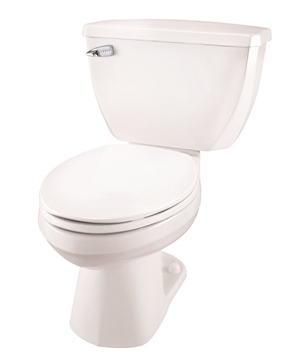 Gerber 21-311 Ultra-Flush Pressure Assist Elongated Two-Piece Toilet - 10-inch Rough-In