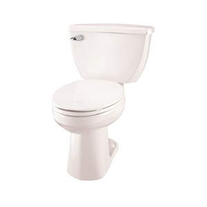 Gerber 21-318 Ultra Flush ErgoHeight Elongated Two Piece Pressure-Assist Toilet - 12-inch Rough-In