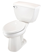 Gerber 21-319 Ultra Flush ErgoHeight Elongated Two Piece Pressure-Assist Toilet with BedPan Cleansing Rim - 12-inch Rough-In