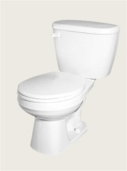 Gerber 21-400 Maxwell Round Front Two-Piece Toilet - 10-inch Rough-In