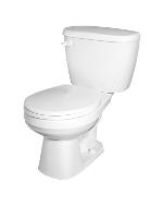 Gerber 21-402 Maxwell Round-Front Two Piece Gravity Fed Toilet - 12-inch Rough-In