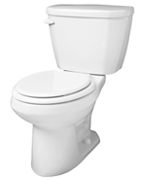 Gerber 21-500 Viper High Performance Round Front Two-Piece Toilet - 10-inch Rough-In