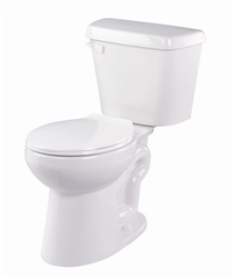 Gerber 21-600 Lynx Round Front Two Piece Gravity Fed Toilet - 10-inch Rough-In