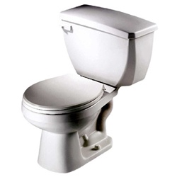 Gerber 21-704 Aqua Saver Round Front Two-Piece Toilet - 14-inch Rough-In