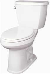 Gerber 21-817 Avalanche ErgoHeight™ 17-inch High Elongated Two-Piece Toilet, 10-inch Rough-In