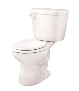 Gerber 21-900 - Maxwell ® 1.28 gpf (4.8 Lpf) Round Front Two Piece Toilet, 10-inch Rough-In