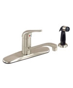 Gerber 40-112-SS Maxwell Kitchen Faucet & Spray Stainless Steel